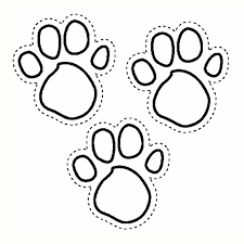 Paw Print Coloring Pages