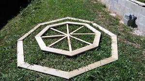 diy octagonal picnic table myoutdoorplans free woodworking