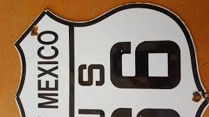 100 Truck Route Sign New Mexico 66 Porcelain Sign Transportation Truck Road Highway