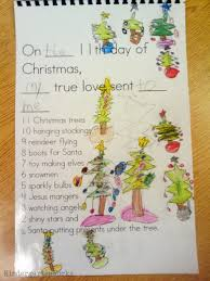 Christmas Tree Books For Kindergarten by The 12 Days Of Christmas Kindergarten Class Book Activity