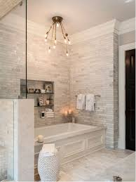 Transitional Master White Tile And Marble Floor Drop In Bathtub Photo Indianapolis