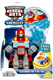 100 Rescue Bots Fire Truck Transformers Playskool Heroes Heatwave The Bot Action Figure Energize Damaged Package Mint Figures