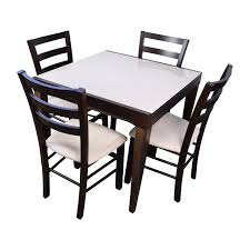Macys Outdoor Dining Sets by 77 Off Glass Dining Set With Tan Chairs Tables