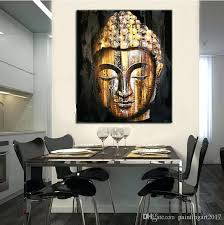 Budha Wall Art Top Quality Hand Painted Face Painting Modern Decor Picture For Sitting