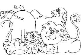 Draw Coloring Book Pages Animals For Site Farm Colouring Printable Reading Books Wild Animal Pdf
