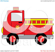 100 Fire Truck Clipart RoyaltyFree RF Illustration Of A Red With A