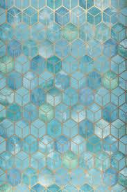 papel pintado casimir turquesa pastel geometrische tapete