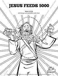 Jesus Feeds 5000 Sunday School Coloring Pages