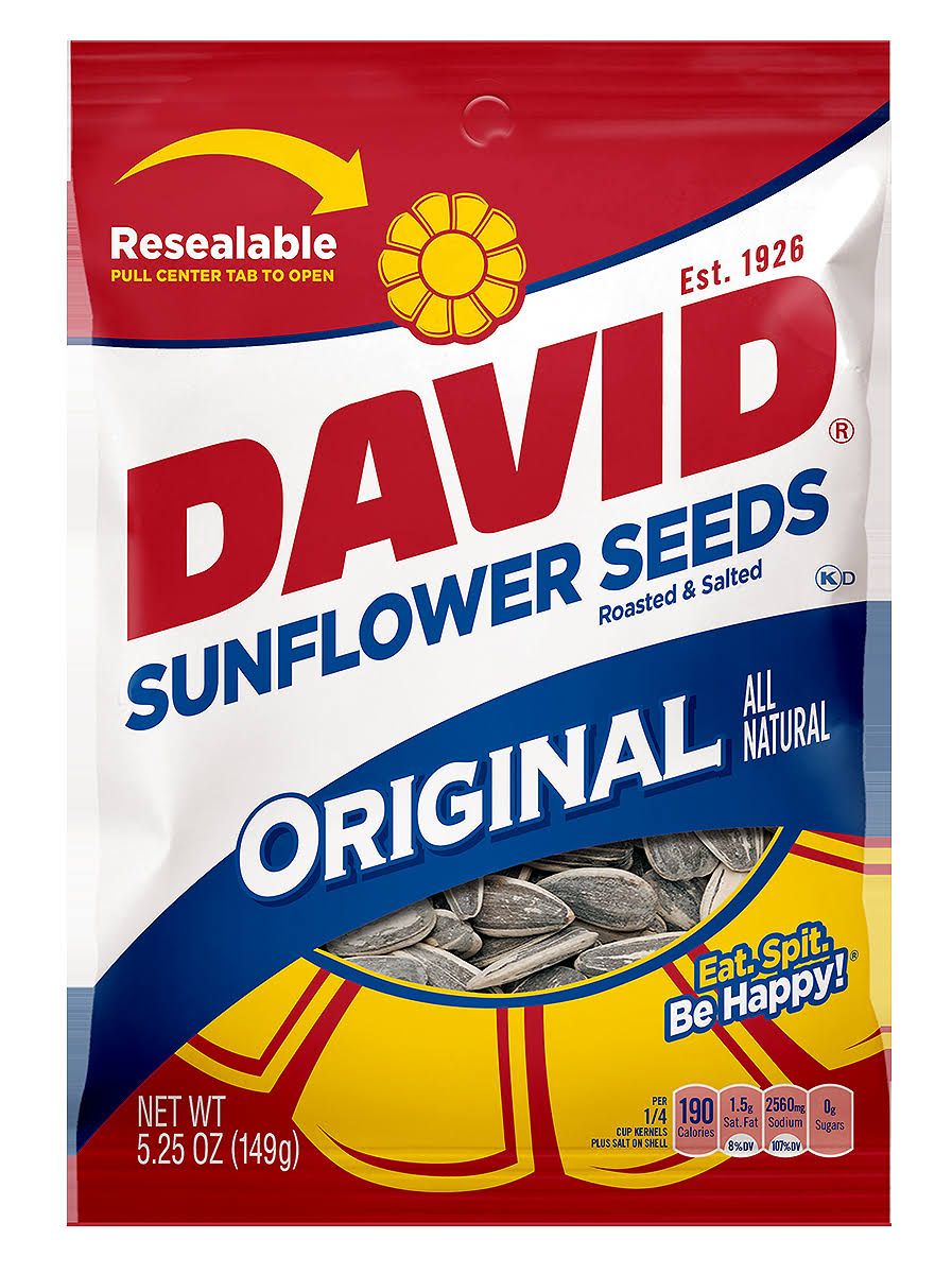 David Original Sunflower Seeds - Roasted and Salted, 5.25oz