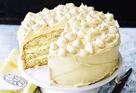 zitronen mohn torte mit weißer schokocreme