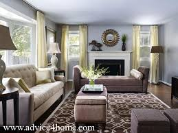 White Gray Sofa Set And Light Blue Wall In Living Room
