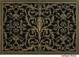 decorative return air vent grille in louis xiv style beaux arts