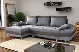 canapé d angle convertible contemporain en tissu gris taupe