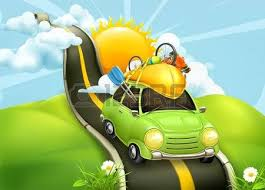 Traveling By Car Vector Illustration