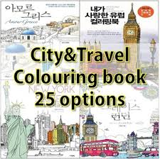 Colouring Book 25 Options Of City And Traveling Theme Coloring BookColoring