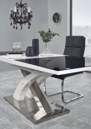 esstisch sandor 2 ausziehbar 160 220 x90 seminartisch konferenztisch glas schwarz weiß modern