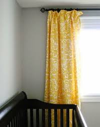 Yellow And White Curtains For Nursery by Charming Yellow Blackout Curtains Nursery 79 On Interior