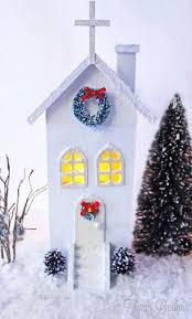 Ceramic Christmas Tree Bulbs At Michaels by Best 25 Diy Christmas Village Houses Ideas On Pinterest Diy