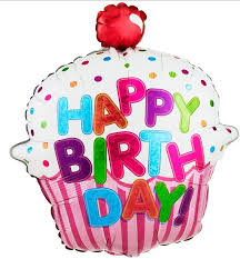 Betallic Happy Birthday Cupcake Foil Balloon This colorful foil balloon is 2 sided and is perfect for all fans of foil balloons Great for parties Great