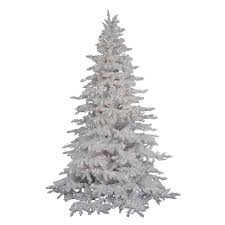 Vickerman 65 Ft Pre Lit Flocked Artificial Christmas Tree With 600 Constant White Clear