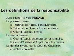 cour d assise definition responsabilite du praticien des institutions et de l expert ppt