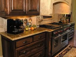 Kitchen Backsplash Ideas With Dark Oak Cabinets by Country Kitchen Backsplash Ideas With Walnut Cabinets Pictures