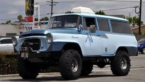 100 1957 International Truck Travelall Retro 4x4 Truck Offroad_JPG Wallpaper