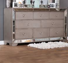 furniture of america loraine silver 8 drawer dresser with antique