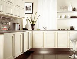 Kitchen Cupboards Without Doors Black Ceramic Floor Tile Smooth White Granite Wall Light Gray