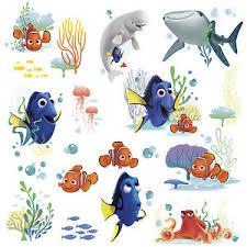Disney Finding Nemo Bathroom Accessories by Disney Finding Dory 19 Wall Decals Nemo Bailey Fish Room Decor