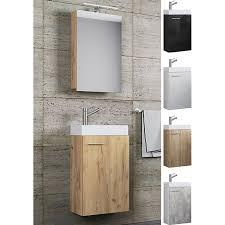 vcm waschplatz waschbecken schrank spiegelschrank wc gäste toilette badmöbel klein schmal slito spiegelschrank