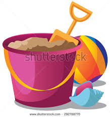 Sand Pail Beach Ball Stock Vector Shutterstock And Shovel Clipart Summer