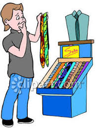 Man Shopping For Clothes Clipart