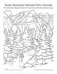 Rocky Mountains National Park Fun Coloring PagesColoring WorksheetsColoring SheetsAdult
