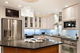 blue glass backsplash tile kitchen with my houzz
