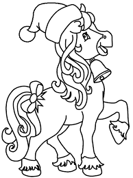 Horse Christmas Coloring Pages