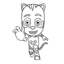 Pj Masks Gecko Coloring Pages Fresh Colour In Gekko From