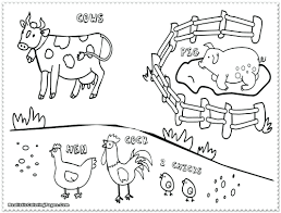 Kids Coloring Pages Farm Animals Color Sheets Printable Colouring Free Animal Book Full Size