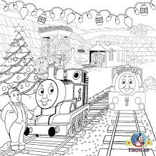 Image Of Thomas And Friends Christmas Coloring Pages