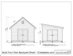 12x16 Barn Storage Shed Plans by Shed Plans Heights Find Out How Tall Your Shed Will Be
