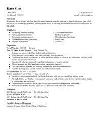 Resume Examples Social Work ResumeExamples SocialWork
