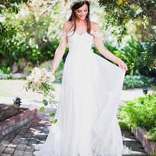 Rustic Country Style Wedding Dress Simple Sweet Bridal Long Chiffon Lady To Sweetheart Vestidos