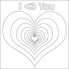 7 Images Of Love Heart Coloring Pages Printable