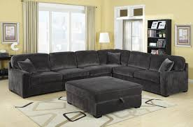 Brown Corduroy Sectional Sofa by Modern Contemporary Charcoal Grey Textured Padded Velvet Oversize