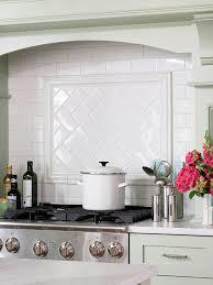 herringbone subway tile pattern transitional kitchen