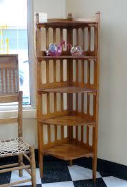 Living Room Corner Decoration Ideas furniture classic style wood 5 tiered corner shelf unit for