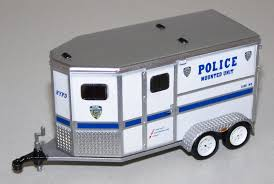 32042 1/64 NYPD 2-Horse Trailer | Action Toys Bruder 029 Cattle Trailer With 1 Cow New Factory Sealed 2029 Corgi Diecast Mack B Series Breyer Delivery Van 98453 Good Ebay Truck Gooseneck Horze Breyer Traditional Series Dually Truck 2614 Running Creek Horse Crazy And Toysrus 2611 Large 19 Scale Trailer For The Traditional Pickup Millbry Hill Classic Crusier Stablemates Sm Horse Transporter Pickup Toys Gifts The Tack Trunk Set B5350 132 Scale