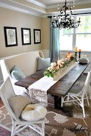 This Dining Room Uses A Mix Of Wicker Chairs And Rich Wooden Table To Give It Humble Rustic Feel