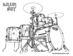 Drum Kit Picture To Color At YesColoring
