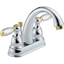 Fix Leaky Bathtub Faucet Two Handles by Shop Delta Traditional Chrome Brass 2 Handle 4 In Centerset